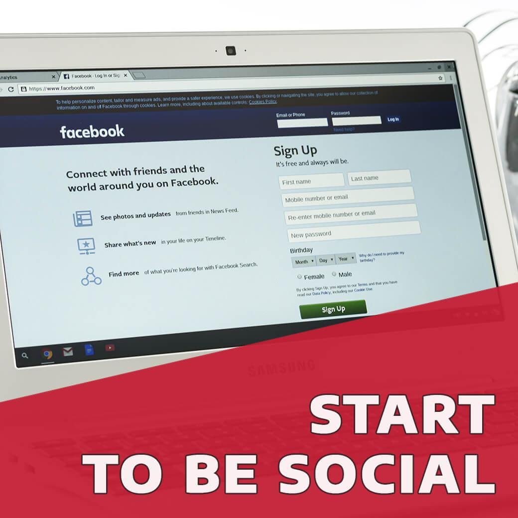 Közösségi média profilok létrehozása